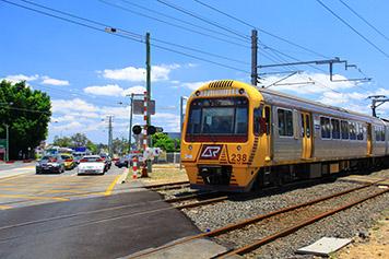 Level crossing Train in Australia