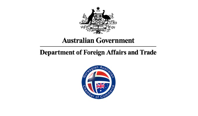 Department of Foreign Affairs and Trade and Norwegian Australian Chamber of Commerce logos