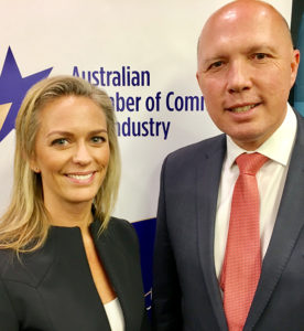 Sophia Demetriades and Hon Peter Dutton